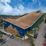 Blue Roofing Systems in Abercynon 3