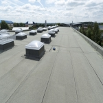 Blue Roofing Systems in Caerphilly 1